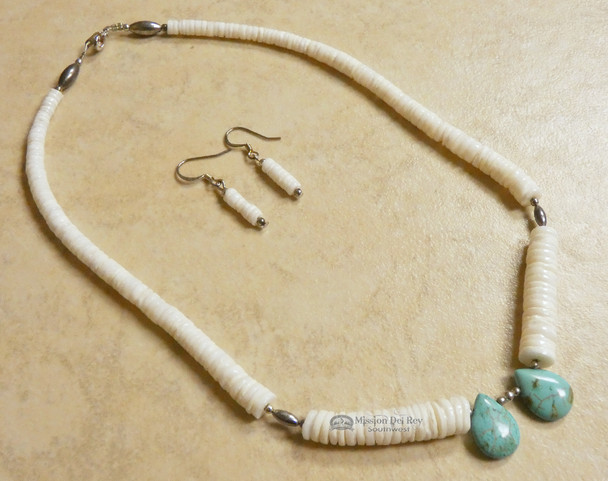"""Native American Jewelry -Necklace & Earring Set 17"""""""