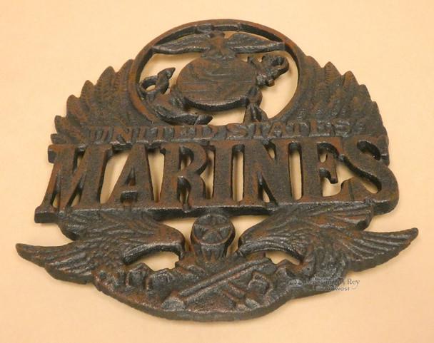 Rustic Marines Logo Metal Trivet