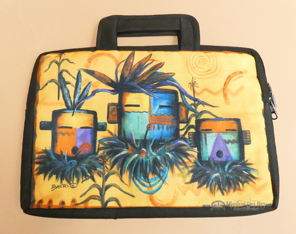 Southwestern Native Art Laptop Bag - Kachinas
