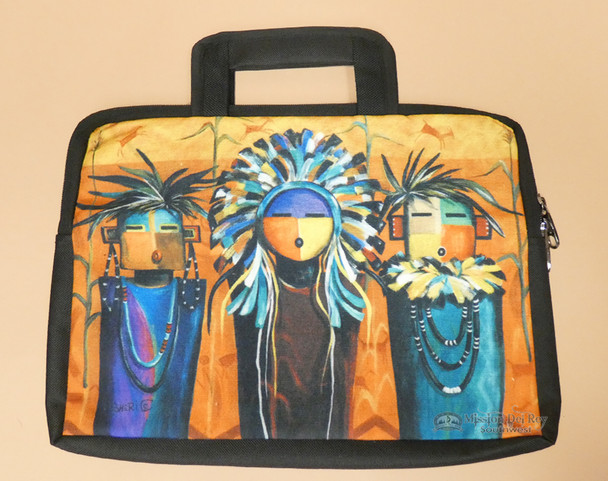 Southwestern Native Art Laptop Bag - Sun Faces