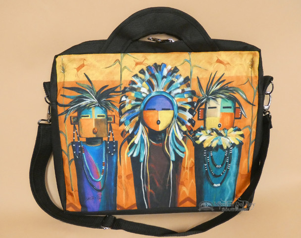 Southwestern Native Art Laptop Bag - Sun Faces