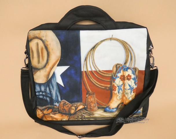 Western Digital Art Laptop Bag - Texas