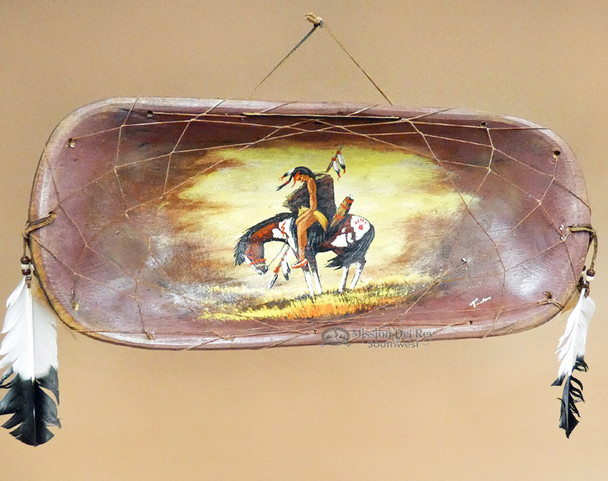 Southwestern Hand Painted Wooden Bowl - End of Trail