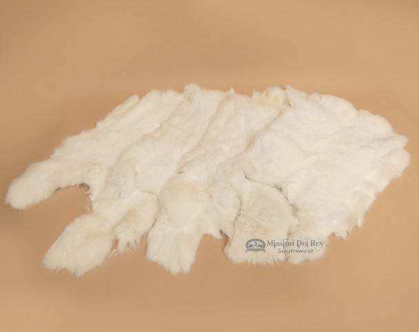 Soft Natural Rabbit Pelts - Set of 4
