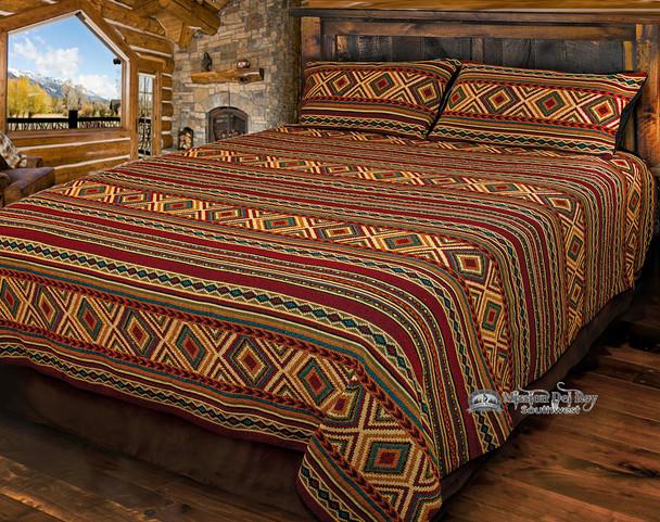 Southwestern Woven Bed Spread -Cameron