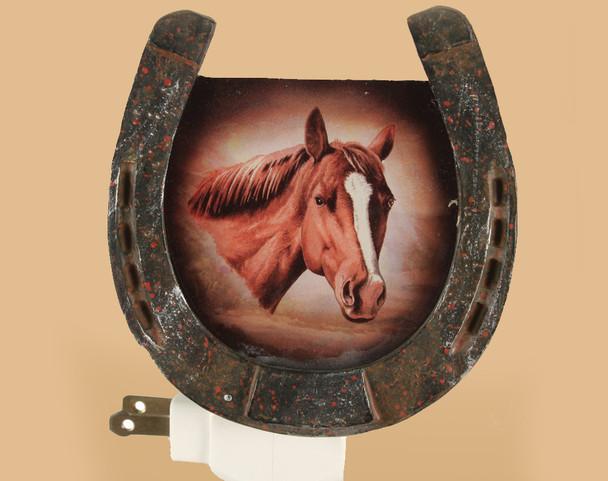Night Light W/ Sensor -Horse Shoe