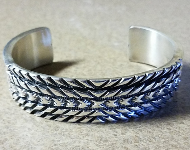 Large Sterling Silver Men's Cuff