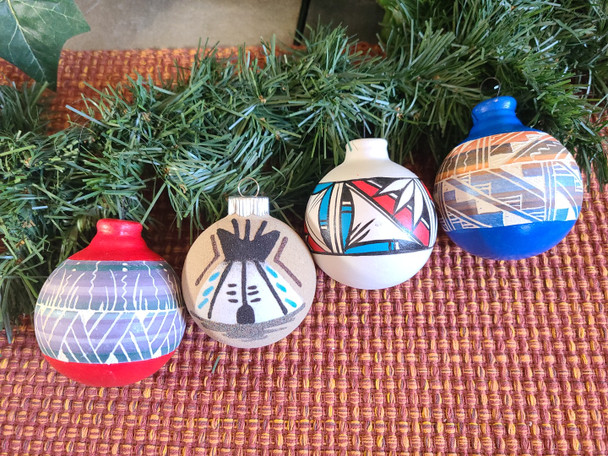 Navajo handcrafted Christmas Ornaments
