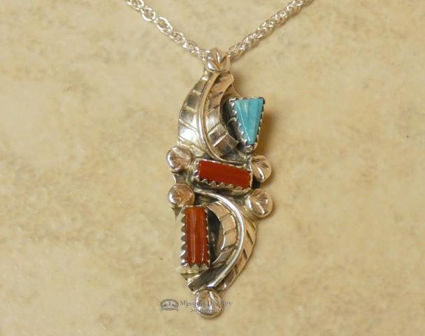 """Native American Zuni Pendant Necklace 20"""""""