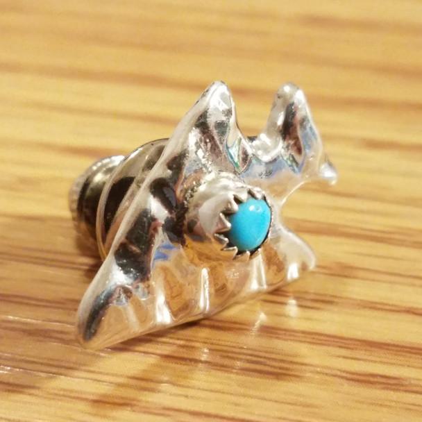 Native American Zuni Sterling Silver Pin -Arrowhead