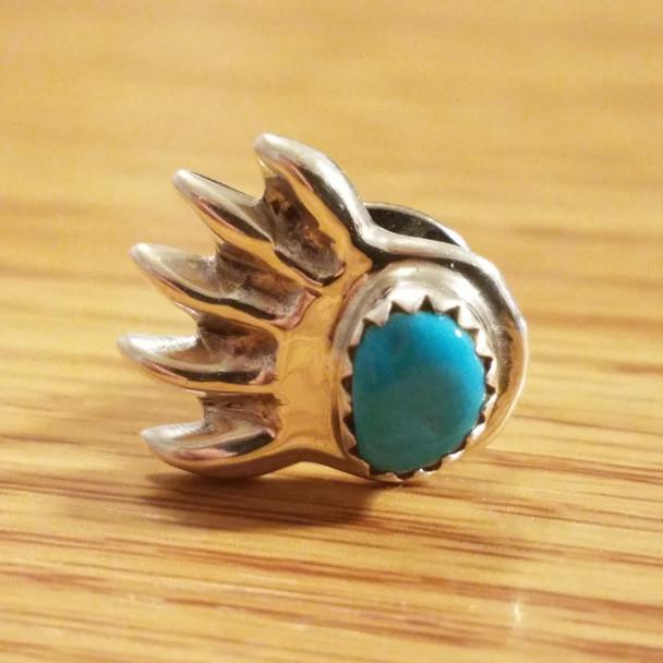 Native American Sterling Silver Pin -Bear Paw