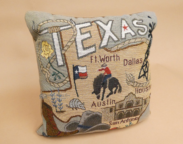 Texas City And State Throw Pillow