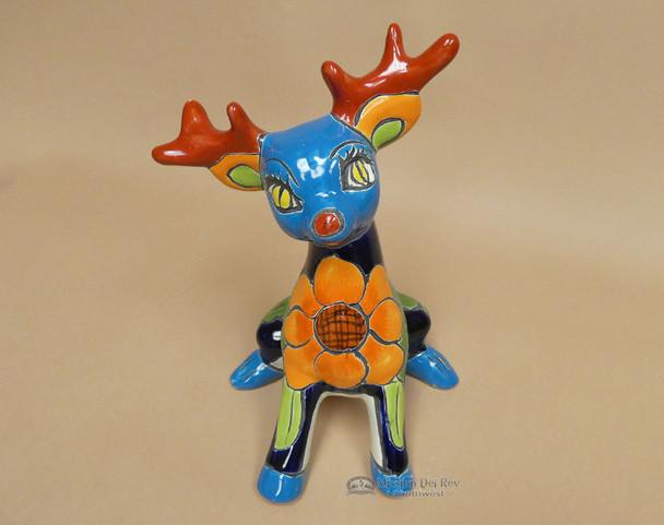 Hand Painted Talavera Reindeer - Sitting