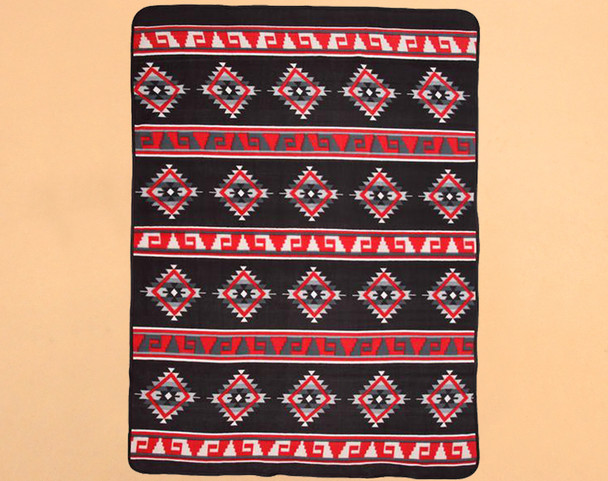 Soft Southwestern Fleece Lodge Blanket