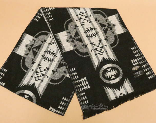 Southwestern Neck Scarf -  Black/White