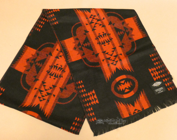 Southwestern Neck Scarf  - Black/Red
