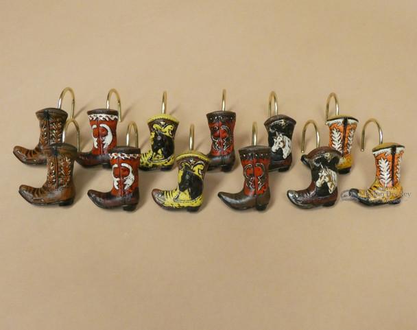 Western Cowboy Boot Shower Curtain Hook