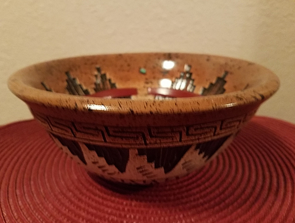 Native American Navajo Pottery Bowl