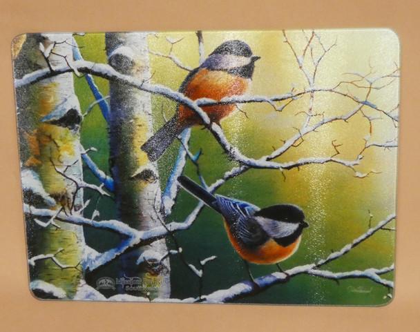 Tempered Glass Cutting Board - Birds