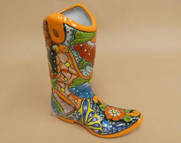 Hand Painted Southwestern Talavera Boot
