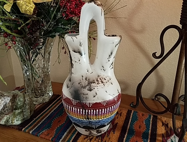Navajo Horse Hair Wedding Vase