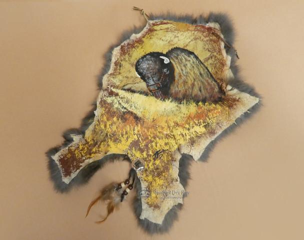 Rustic Painted Rabbit Hide - Grazing Buffalo
