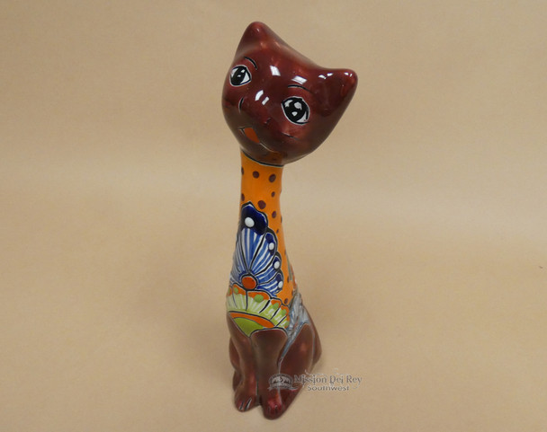 Hand Painted Talavera Cat