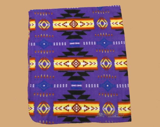 Lightweight Fleece Blanket - Purple