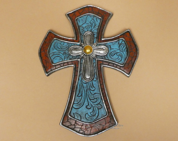 Southwestern Red & Turquoise Cross