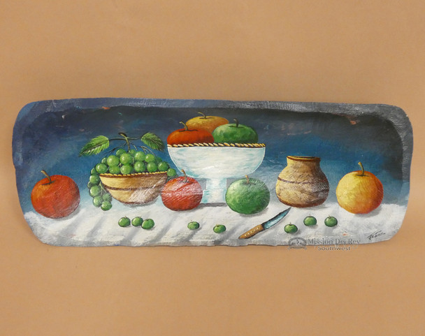 Hand Painted Bowl - Apples & Grapes