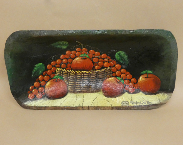 Hand Painted Bowl - Red Apples & Grapes