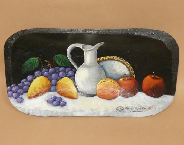 Hand Painted Bowl - Fruit & Vase