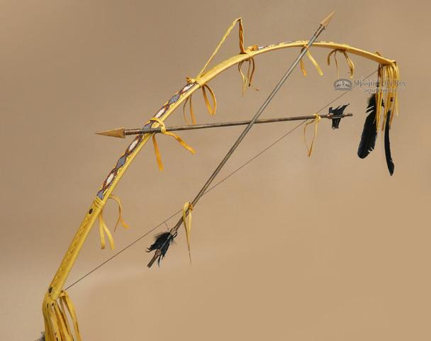 Hand Beaded Navajo Indian Bow & Arrow Set