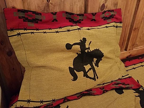 Southwestern Woven Pillow Sham -Bronco