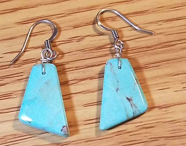 Native Silver & Turquoise Earrings