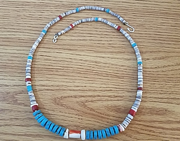 """Native American Beaded Necklace 24"""""""