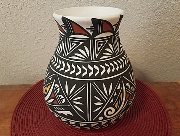 Acoma Hand Painted Pottery Vase