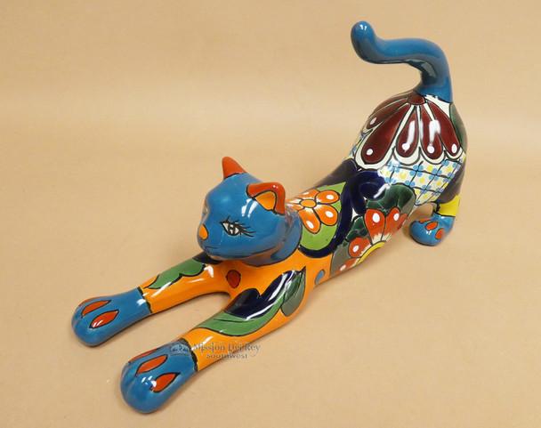 Southwestern Talavera Stretching Cat