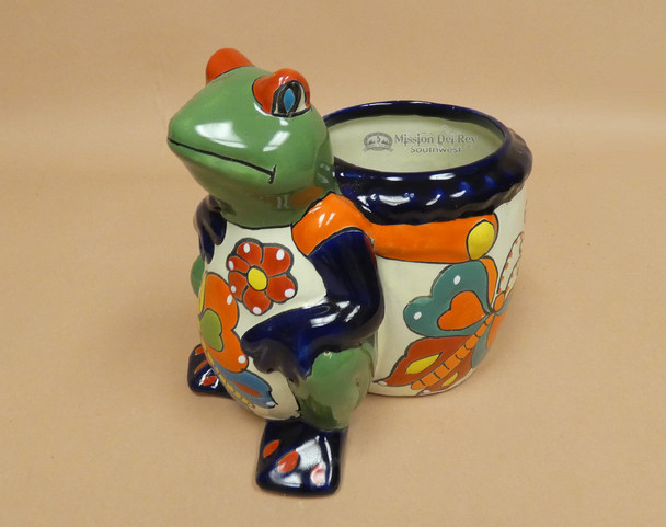 Hand Painted Talavera Frog Planter