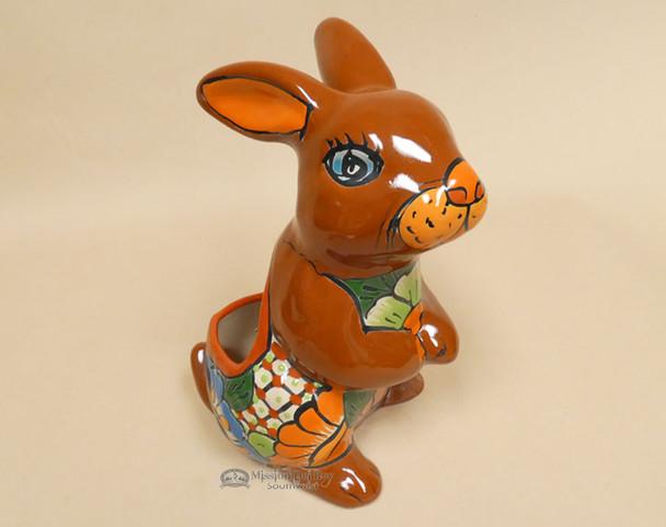Hand Painted Talavera Rabbit Planter