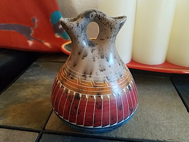 Navajo Horse Hair Color Band Wedding Vase