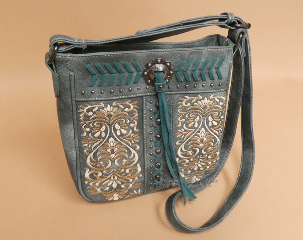 Turquoise Concho Concealed Carry Purse