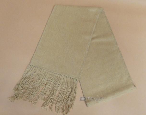 100% Alpaca Wool Scarf -Tan