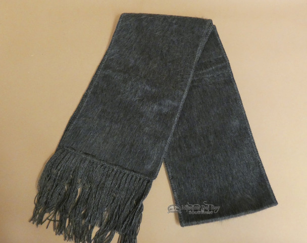 100% Alpaca Wool Scarf -Grey