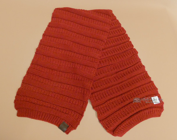 Knitted Alpaca Wool Scarf -Red