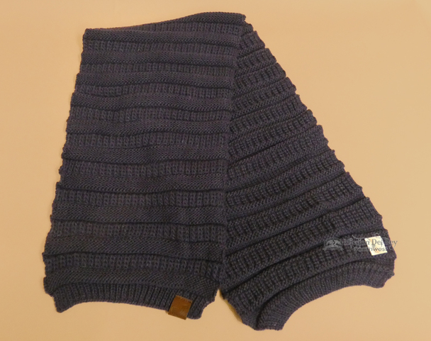 Knitted Alpaca Wool Scarf -Purple