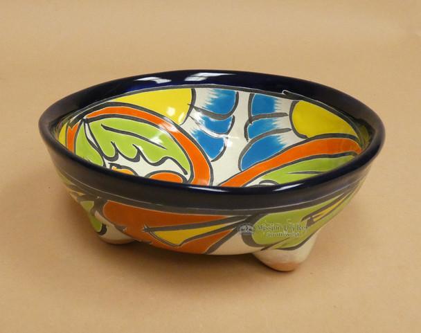 Hand Painted Talavera Footed Bowl
