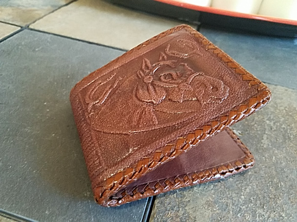 Hand Stitched Leather Wallet