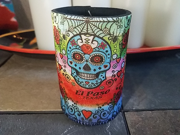 Day of the Dead Can Coozy -Sugar Skull