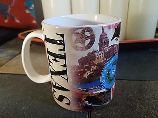 Texas Collage Mug 16oz. -Sights